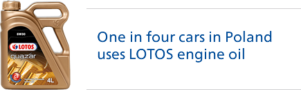 One in four cars in Poland uses LOTOS engine oil