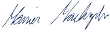 Mariusz Machajewski, podpis